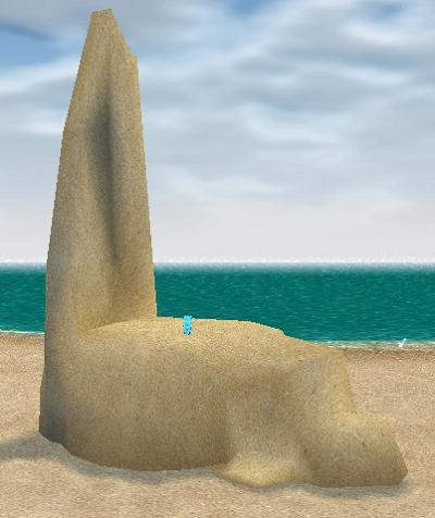 頑張って作った砂の像