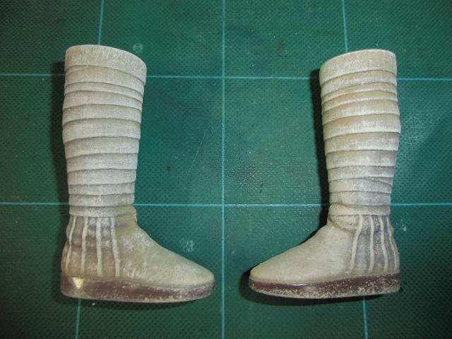 塗り足した靴