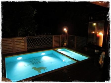 夜のプール