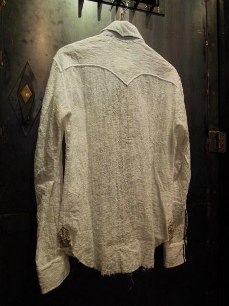 BURNOUT 花柄ドレスウエスタンシャツ (5)