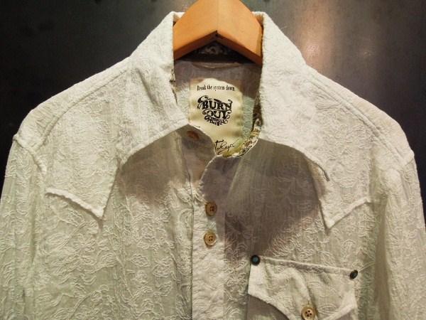 BURNOUT 花柄ドレスウエスタンシャツ (3)