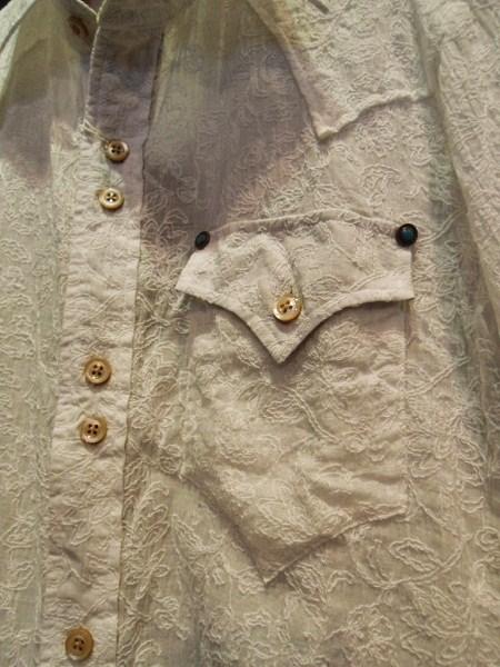 BURNOUT 花柄ドレスウエスタンシャツ (2)