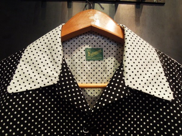 Delinquent Bros CREAP DOT OPEN COLLAR SHIRTS (6)