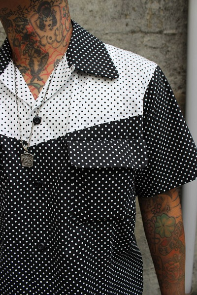Delinquent Bros CREAP DOT OPEN COLLAR SHIRTS