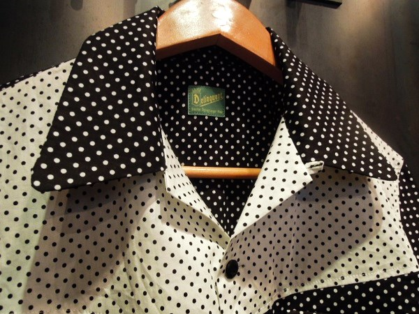 Delinquent Bros CREAP DOT OPEN COLLAR SHIRTS (2)