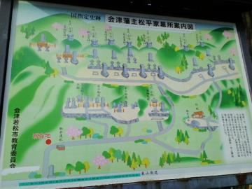 松平家墓所の看板