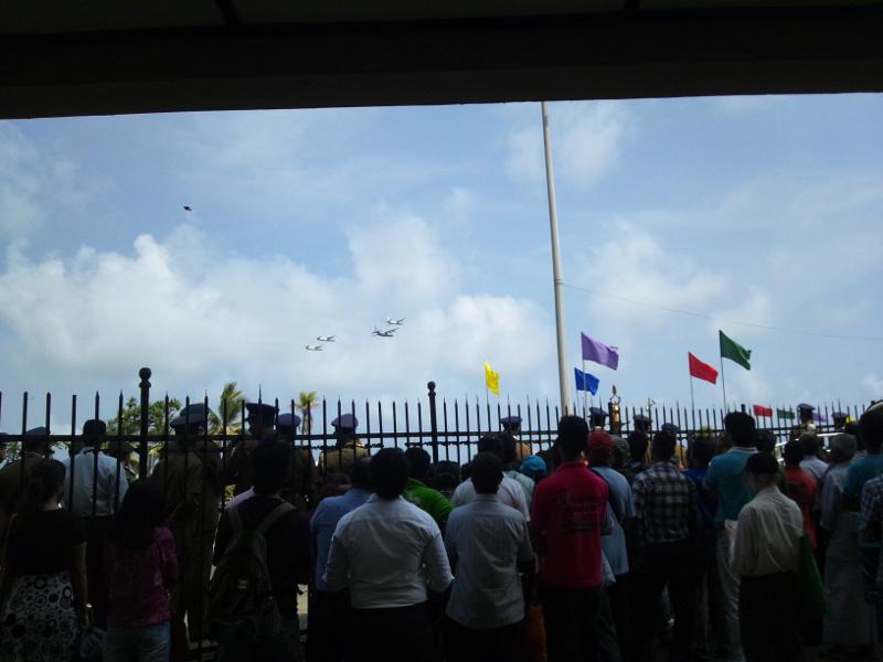 スリランカ V-Dayパレード 空軍の航空機
