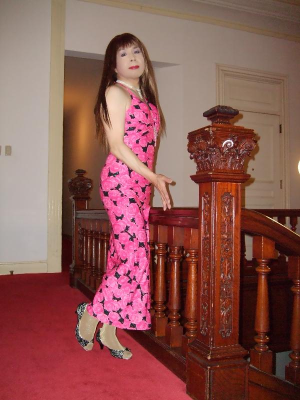 080417薔薇柄のドレス(2)
