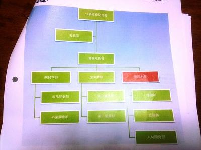 組織図のレジュメ
