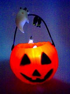 ハロウィンかぼちゃ 点灯