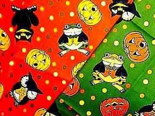 ハロウィン蛙布