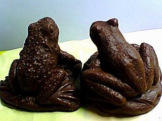 蛙チョコ後ろ姿