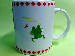 弾む蛙王様のマグカップ
