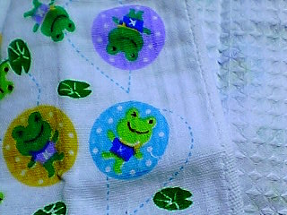 蛙タオル 裏ワッフル