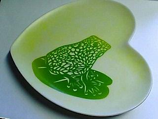 ポーセラーツ蛙皿