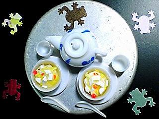 お茶の時間 チリレンゲ付き