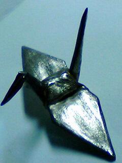 銀の折り鶴