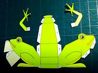 切り離した蛙展開図