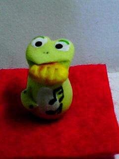 軽量粘土 蛙置物