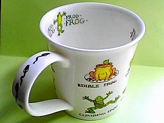 FROGマグカップ持ち手はオタマ