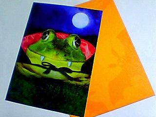 ハロウィン蛙吸血鬼カード