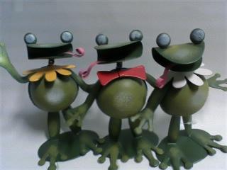 3種類カエル型鉄インテリアA