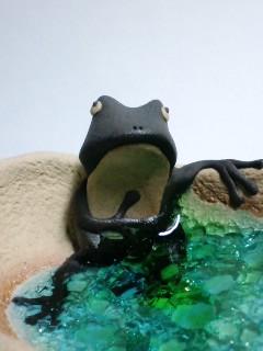 湯浴み?蛙 アップ