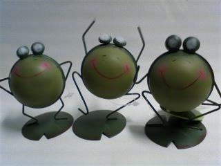 3種類カエル型鉄インテリアB