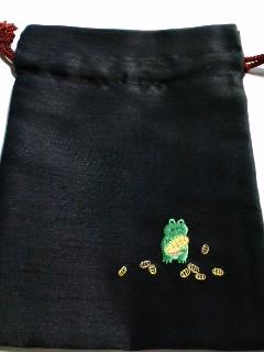 カネカエルな巾着袋