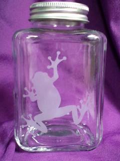 サンドブラスト 蛙瓶♪