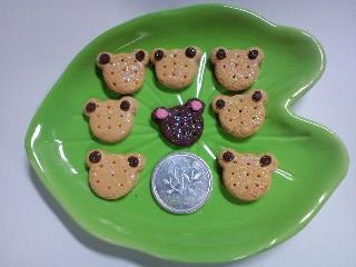 ラメ入り蛙クッキー