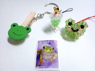 蛙のビーズたち