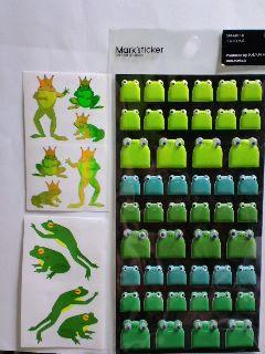 蛙のシール☆