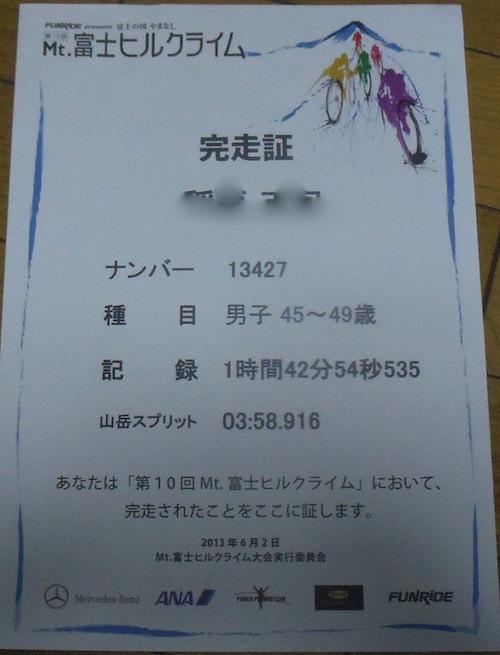 8 富士ヒルクラ完走証0571