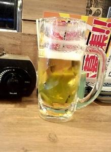 生ビール(300円)1杯目磯丸水産