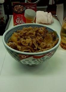 牛丼並(300円)