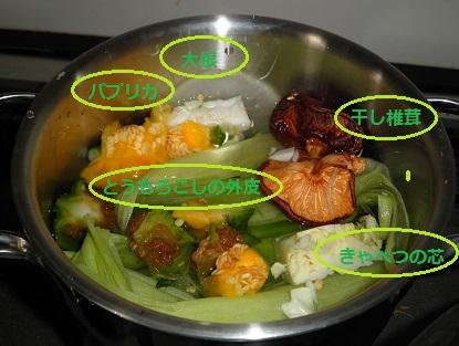 野菜スープベース作り