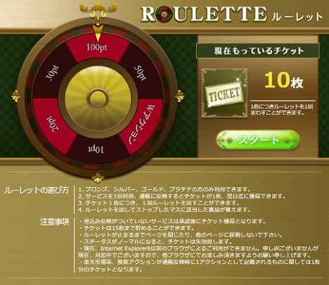 『ライフマイル』ルーレット