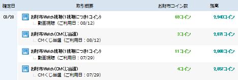 『お財布.com』お財布通帳8月28日