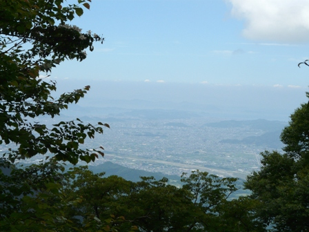 皿ヶ嶺 登山道からの眺望 1