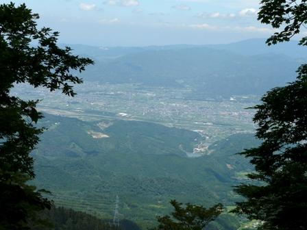 皿ヶ嶺 登山道からの眺望 2