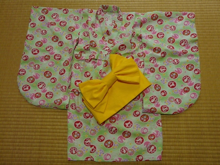 浴衣と作り帯 (Pちゃん用)