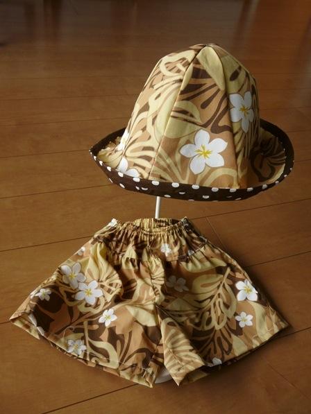 キュロットパンツ & 帽子