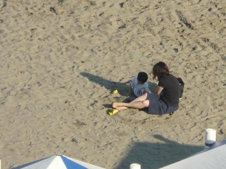 熱海 砂遊び 1