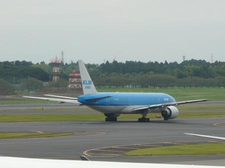 成田空港・見学デッキ KLM オランダ航空 1
