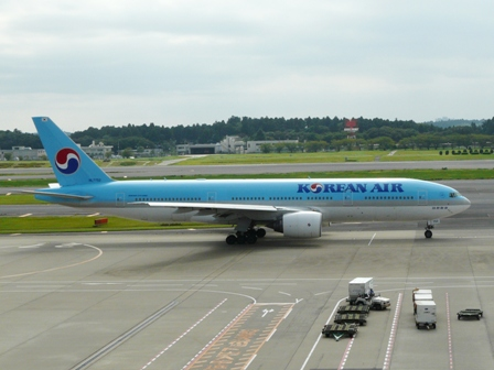成田空港・見学デッキ 大韓航空 2