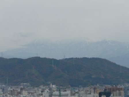 松山総合公園から見た石鎚山 1