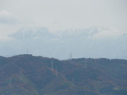 松山総合公園から見た石鎚山 2