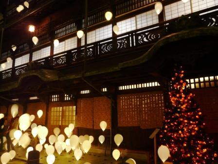 夜の道後温泉本館 & みかんツリー 4