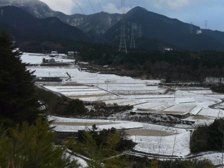 東温市上林 雪景色 1